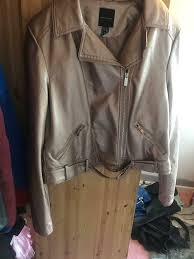 bronze faux leather jacket new look in kings norton west midlands gumtree