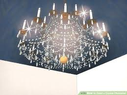 glass chandelier crystals image titled clean a crystal step green