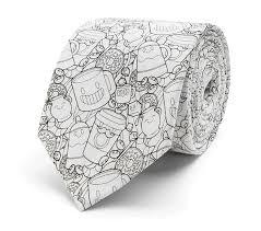coffee donuts diy coloring book tie
