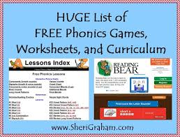 Click the buttons to be transported to all the worksheets for that topic. Huge List Of Free Phonics Games Worksheets And Curriculum Sheri Graham Helping You Live With Intention And Purpose