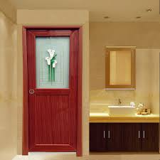 sensational interior half door half glass brown pvc toilet interior door bathroom door wk po