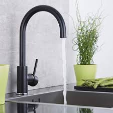 Black Kitchen Sink And Taps Milano Single Lever Kitchen Sink Mixer Tap With Swivel Spout Black