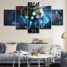 modern canvas pictures print wall art frame 5 pieces movie poster avengers infinity war home decor on wall art frames for bedroom with modern canvas pictures print wall art frame 5 pieces movie poster