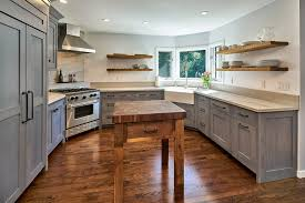 san francisco butcher block kitchen with and bath fixture professionals rustic farm sink suspended shelves