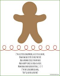 activities for kids gingerbread drawing le
