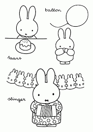 Miffy Coloring Pages Miffy Party Miffy Coloring Pages Free