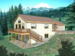 house plans sloped lot i on lake simple with walkout