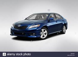 2010 Toyota Camry SE in Blue - Front angle view Stock Photo ...