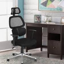 black ergonomic mesh office chair with adjule lumbar support