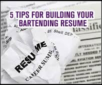 5 Resume Tips For Your Bartending Resume - Fine Art Bartending ...