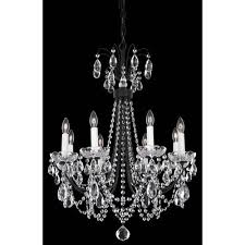 schonbek lucia ferro black eight light clear heritage handcut crystal chandelier 21 5w x 27h x 21 5d