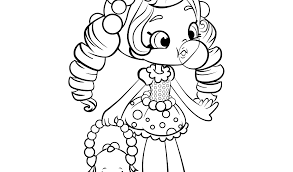 Shopkins Girl Coloring Pages Free