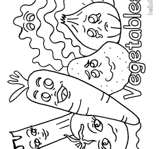 Fruit And Vegetable Coloring Pages For Kids Vegetables G Fruits