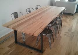raw edge dining table. Custom Live Edge Wormy Maple Dining Table With Tapered Raw Steel Base By Barnboardstore.com