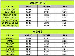 Jacket Size Chart Grandmas Marathon