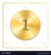 Seal Award Gold Icon Blank Medal Isolated On