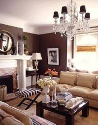 Zebra Print Living Room Decor Decorating With Brown Walls In Living Room With Crystal Chandelier