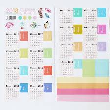 Callendar Planner 2019 2018 Planner Calendar Sticker Notebook Index Monthly Category Sticker Planner Accessories Slip Sheet From Meetamo Price Dhgate Com