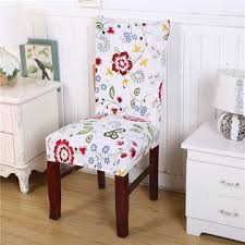 stretched flower contracted modern chair cover covering slipcover room decor
