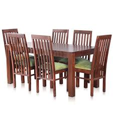 ay solid wood dining table with 6 chairs