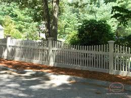 Vinyl picket fence front yard Design Front Colonial Fence Vinyl Fence Open Spaced Picket Colonial Fence Co Norfolk Ma