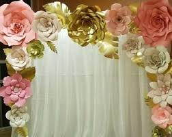 Giant Paper Flower Backdrop Large Paper Flowers Etsy