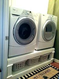 washing machine pedestal how to build a front load washer and dryer laundry counter diy ste