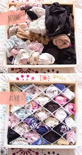 use drawer dividers for your undergarments