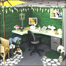 office cubicle decoration. Cubicle Design Ideas Decorations Beautiful Simple Decor With Green Color And Rattan Office Decoration M