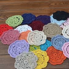 best quality vintage diy handmade 10cm round table mat crochet coasters z doilies cup pad props at mats pads dhgate com