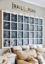 old window chalkboard calendar by thistlewood farms featured on funky junk interiors