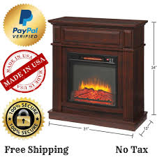 details about hampton bay ansley 31 in mobile media console infrared electric fireplace tv