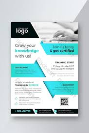 Training Flyer Templates Free Indigo And Dark Style Business Training Flyer Template Ai