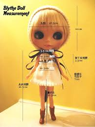 Blythe Doll Size Chart Blythe Doll Body Measurements Head 27 5cm 10 3 4