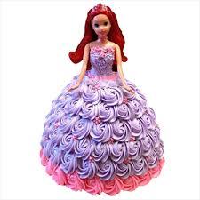 Barbie Doll Rose Cake Online Fondant Barbie Rose Doll Cake