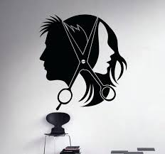 salon pictures for wall hair salon barber wall decal art vinyl sticker interior window decor salon pictures for wall wall decal hair