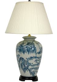 awesome blue and white china lamp bases blue and white ginger jar lamps white