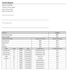 Teacher Grading Scale Chart Printable Best Free Excel Gradebook Templates For Teachers