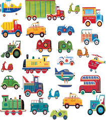 transport wall stickers