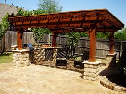 21 patterned mounted gazebo with simple seating