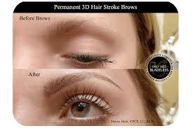 permanent brow makeup before and after custom beaute tonawanda new york