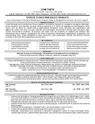 Exercise Science/Kinesiology - Front Runner Resume Writing