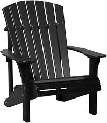 picture of luxcraft poly deluxe adirondack chair black adirondack chairs r1