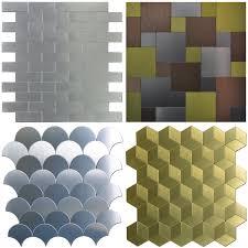 Peel And Stick Kitchen Tile Peel Stick Metal Tiles Sample Wall Art For Kitchen Backsplashes