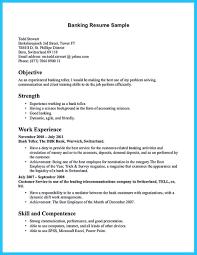 Resume Skills For Bank Teller 11 Objective Banking Operations Po