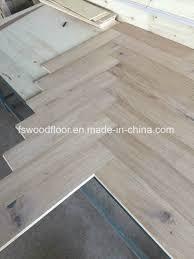 unfinished white oak herringbone engineered wood flooring