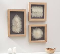 framed leaf wall art on rectangular framed wall art with framed leaf wall art pottery barn