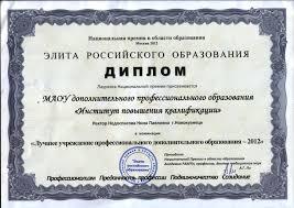 Диплом МАОУ ДПО ИПК Диплом