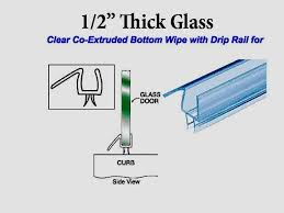 1 2 thick polycarbonate shower door replacement sweep wipe seal cut to size