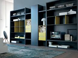 Modular Cabinets Living Room Wall Mounted Bookcase Modular Contemporary Wood Habitat By Alberto
